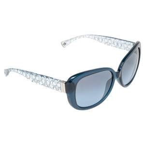 Coach Blue Ice Crystal Acetate 5153/17 Laurin Gradient Sunglasses