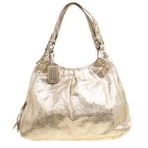 Coach Gold Embossed Leather Tote