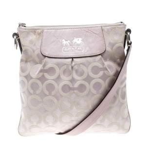 Coach Lilac Signature Fabric Opt Art Crossbody Bag