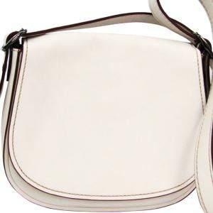 Coach White Leather Saddle 23 Bag