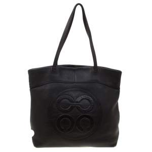 Coach Black Leather Shopper Tote