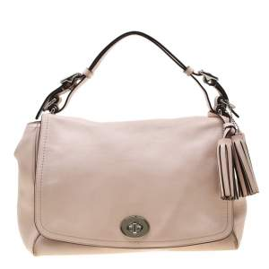 Coach Blush Pink Leather Legacy Romy Shoulder Bag