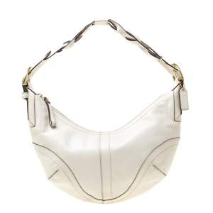 Coach Cream Leather Hobo
