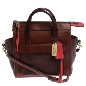 Coach Brown Leather Crossbody Bag