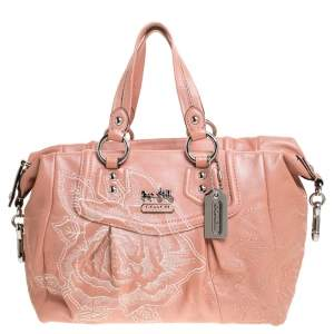 Coach Coral Orange Leather Limited Edition Madison Satchel