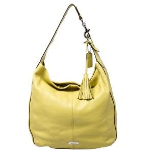 Coach Neon Yellow Leather Hobo