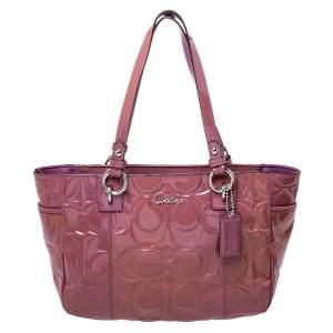 Coach Purple Patent Leather Satchel