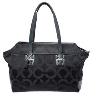Coach Black Signature Canvas Tote