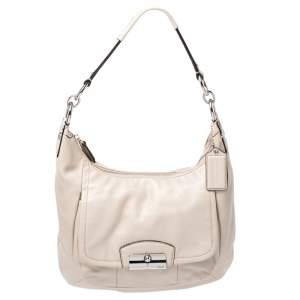 Coach Ivory Leather Kristin Hobo