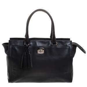 Coach Black Leather Chelsea Caryall Bag