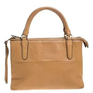 حقيبة يد كوتش Borough جلد بنية فاتحة