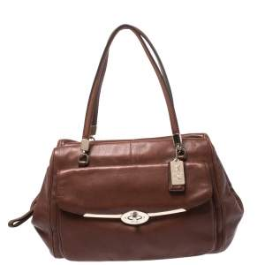 Coach Brown Leather Madison Madeline East/West Satchel