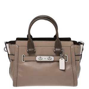 Coach Multicolor Leather Swagger 27 Carryall Satchel