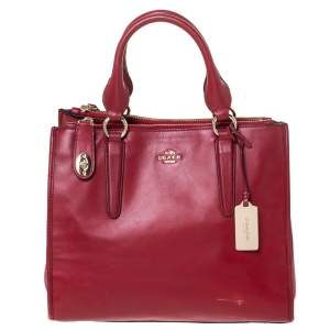 Coach Red Leather Crosby Tote