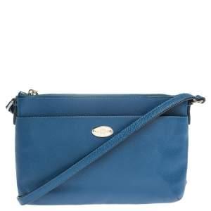 Coach Blue/Beige Leather East West Crossbody Bag