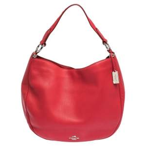 Coach Red Leather Nomad Hobo