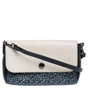 Coach Multicolor Floral Print Coated Canvas and Leather Ranch Crossbody Bag