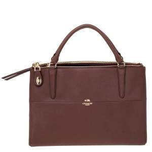 Coach Brown Leather Borough Tote