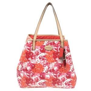 Coach Multicolor Coated Canvas and Leather Shopper Tote