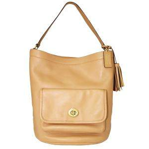 Coach Beige Leather Bucket  Totes
