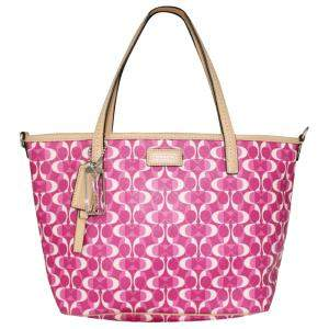 Coach Pink Coated Canvas  Totes