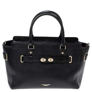 Coach Black Leather Swagger Tote