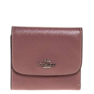 Coach Old Rose Patent Leather Trifold Wallet