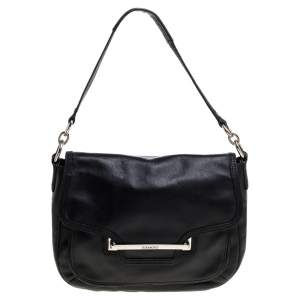 Coach Black Leather Taylor Flap Crossbody Bag