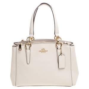 Coach Cream Leather Mini Christie Carryall Shoulder Bag