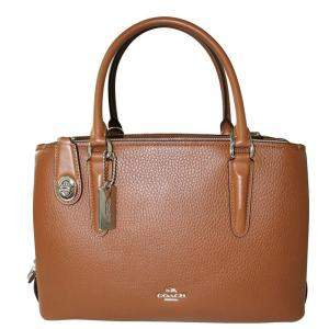 Coach Brown/Dark Brown Leather Shoulder Bag