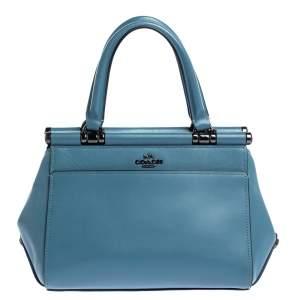 Coach Blue Leather Grace 20 Satchel
