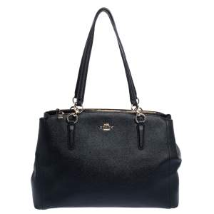 Coach Black Leather Large Christie Carryall Satchel