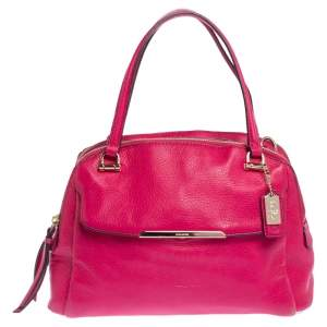 Coach Fuchsia Leather Madison Georgie Satchel