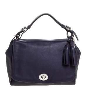 Coach Purple Leather Legacy Romy Top Handle Bag