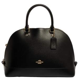 Coach Black Leather Sierra Satchel