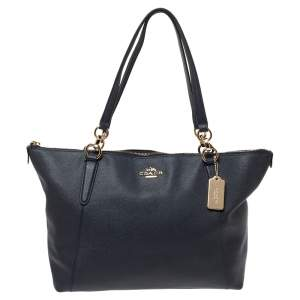 Coach Navy Blue Leather Ava Tote