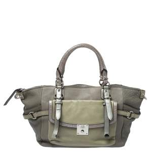 Coach Grey Leather Pinnacle Bette Shoulder Bag