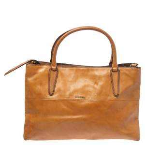 Coach Tan Leather Tote