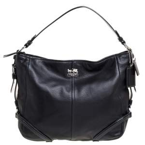 Coach Black Leather and Patent Leather Hobo