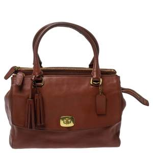 Coach Brown Leather Harper Satchel