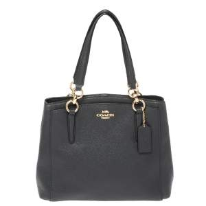 Coach Grey Leather Minetta Satchel
