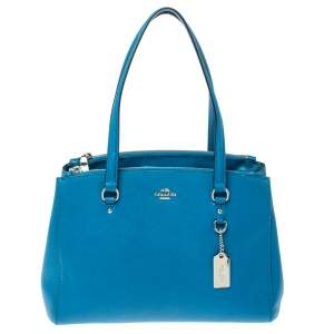 Coach Blue Leather Christie Carryall Satchel