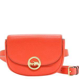 Coach Orange Leather Kat Saddle Waist Bag
