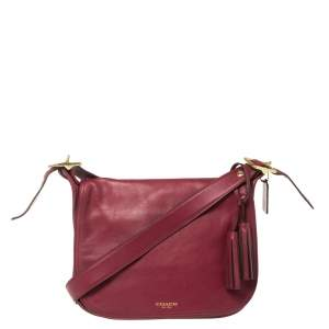 Coach Dark Pink Leather Patricia Legacy Shoulder Bag