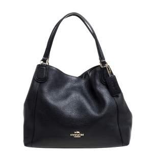 Coach Black Leather Hadley Shoulder Bag