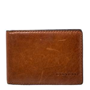 Coach Brown Leather Bifold Card Holder
