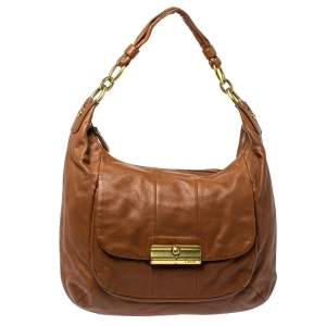 Coach Brown Leather Kristin Hobo