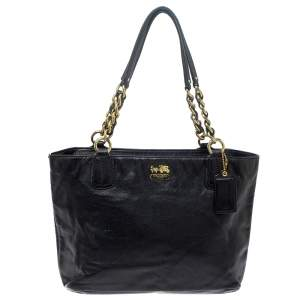 Coach Black Leather East West Chelsea Tote