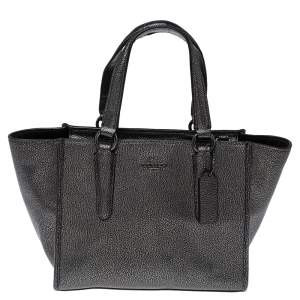 Coach Dark Grey Leather Crosby Tote