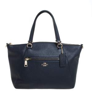 Coach Blue Leather Prairie Satchel
